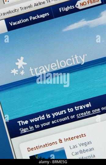 online travel vacation booking travelocity - Stock-Bilder