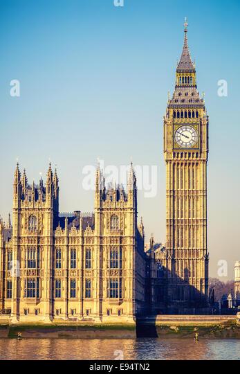 Big Ben tower in London - Stock Image