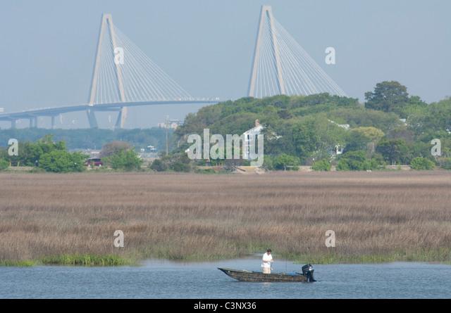 Ravenel bridge stock photos ravenel bridge stock images for Fishing charleston sc