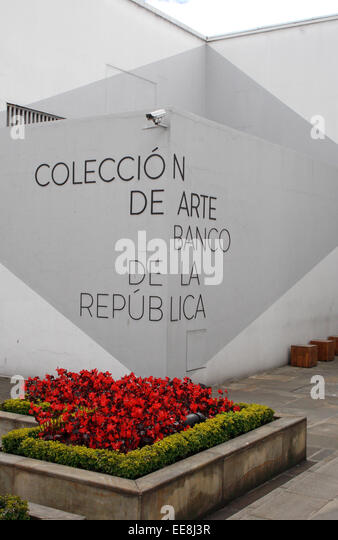 The Coleccion de Arte Banco de la Republica, in Bogota, Colombia. - Stock Image