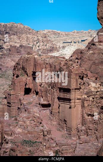 Nabataean Ruins at Petra, Jordan. - Stock Image