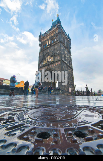 At the Streets of Prague - Stock Image
