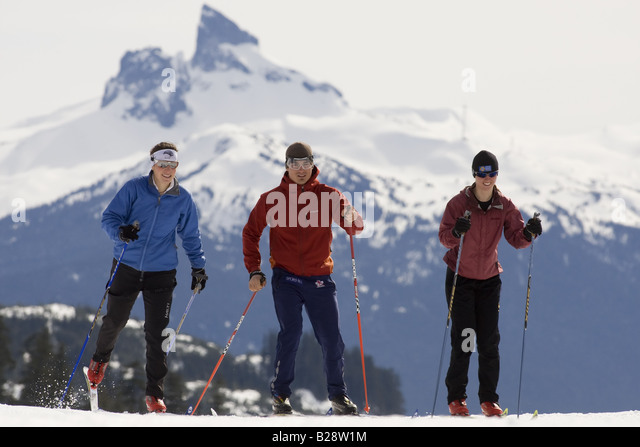 cross country skiing callahan valley - Stock Image