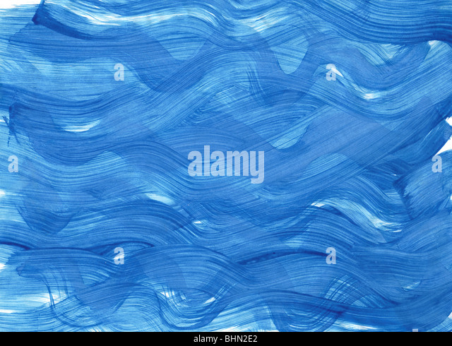 sea - gouache painting background - Stock Image