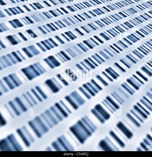 DNA sequences - Stock Image