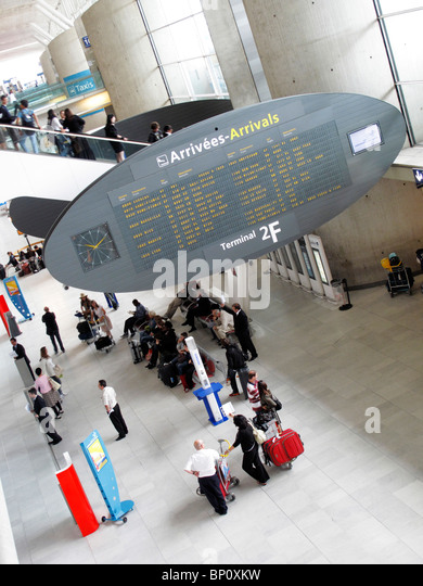 France, Paris-Charles de Gaulle Airport, arrivals - Stock-Bilder