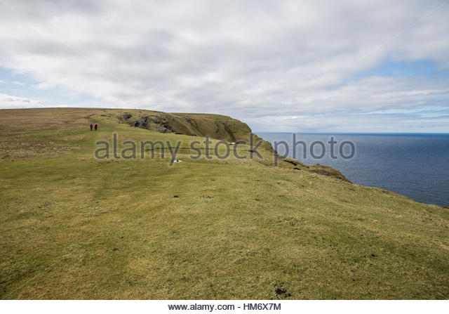 Edge of the Earth Shetland - Stock Image