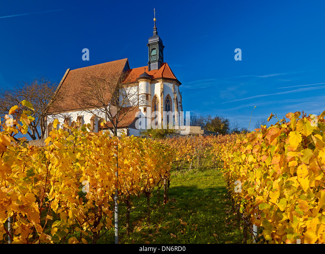 Church of Maria im Weingarten, Volkach on the Main, Lower Franconia, Bavaria, Germany - Stock-Bilder