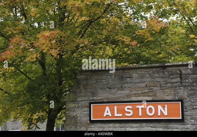 UK, England, Alston, South Tynedale Railway Station, - Stock Image