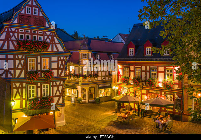 Idstein german half timbered house road stock photos for Design hotel taunus