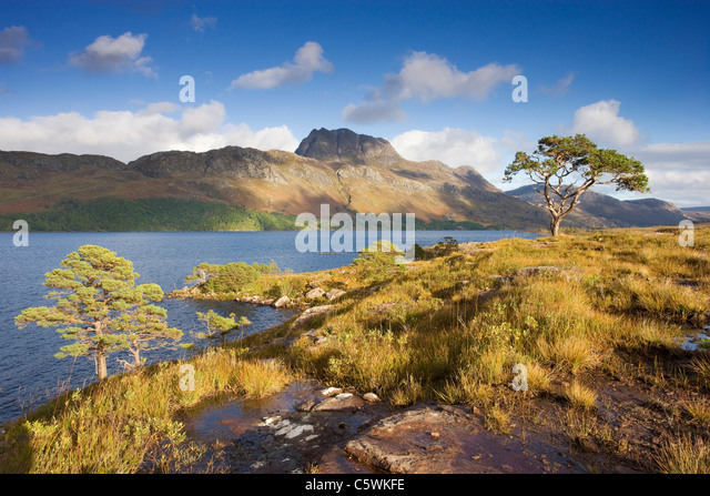 Loch Maree and Slioch, Scotland, Great Britain. - Stock-Bilder