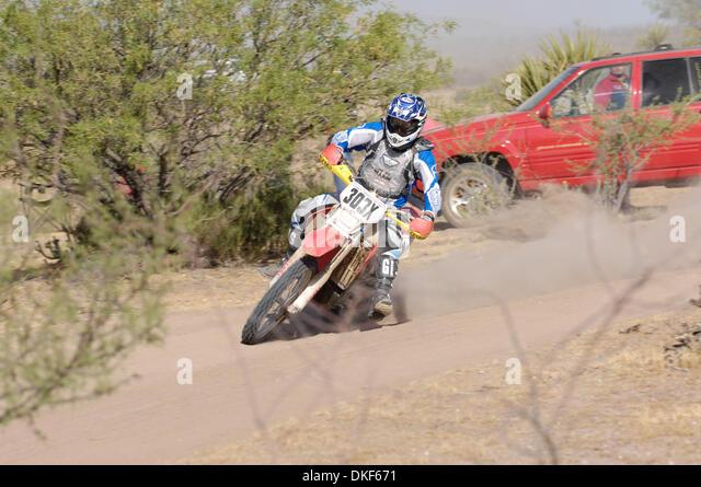 Jun 06, 2009 - Valle de la Trinidad, Baja Norte, Mexico - MIKE JOHNSON, winner of Class 30 (riders under 30 yrs. - Stock Image