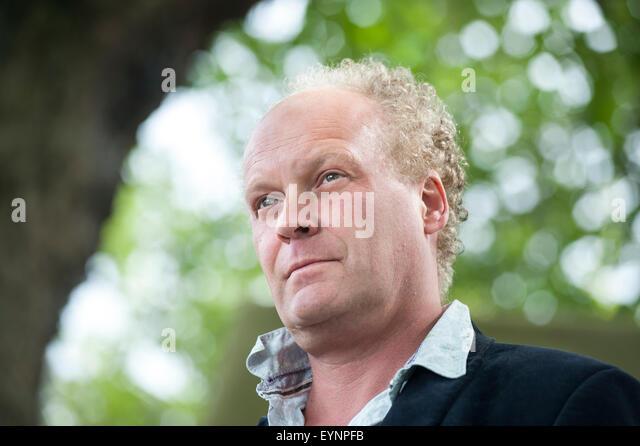 Poet and novelist, Patrick McGuinness, appearing at the Edinburgh International Book Festival. - Stock Image