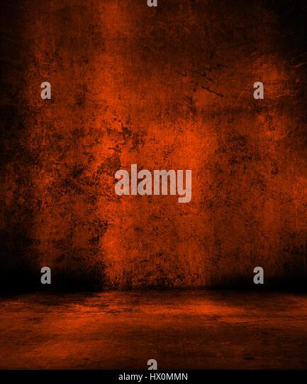 Grunge orange background - ideal for Halloween - Stock Image