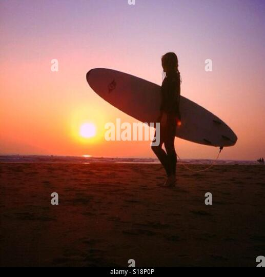 Sunset at Llangennith, Gower - Stock-Bilder
