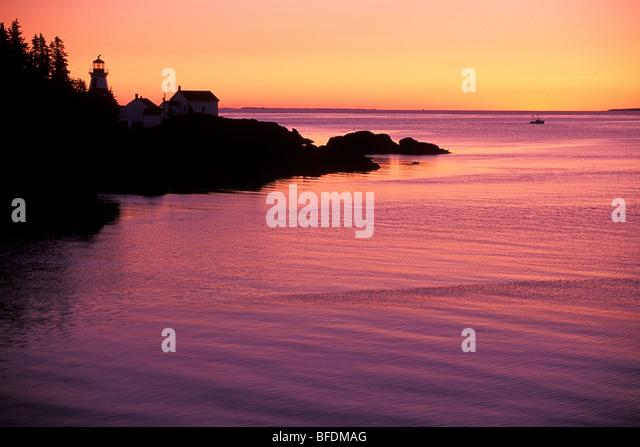 East Quoddy Lighthouse at sunrise, Campobello Island, New Brunswick ...