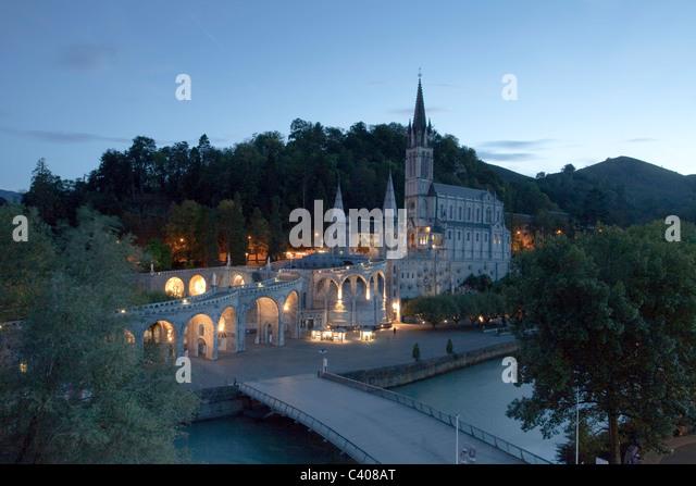 France, Europe, Lourdes, Pyrenees, religion, place of pilgrimage, Madonna, pray, religion - Stock Image
