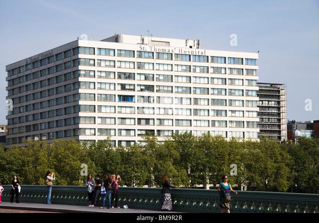St Thomas Hospital, London, England - Stock Image