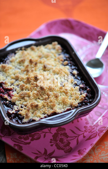 Red Fruits Crumble - Stock Image