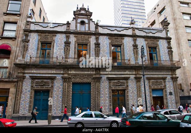 Casa de los azulejos mexico city stock photos casa de for Palacio de los azulejos mexico