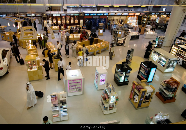 Qatar Doha airport duty free shopping - Stock Image