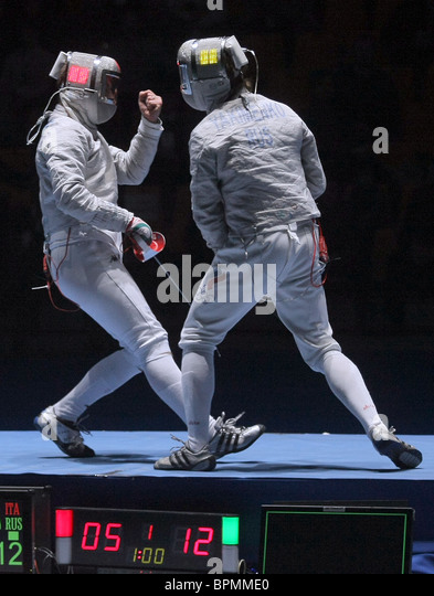 Moscow Sabre International Fencing Tournament - Stock Image