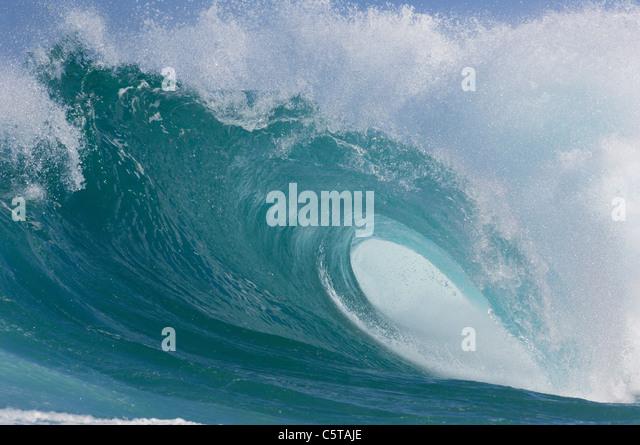 USA, Hawaii, Oahu, Big wave, close-up - Stock Image