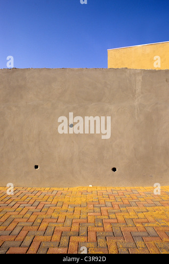 Palestine, View of wall - Stock Image