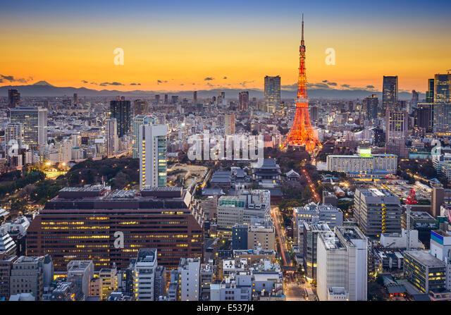 Tokyo, Japan skyline in Minato Ward. - Stock Image