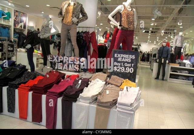 Rhode Island Providence Providence Place Mall shopping retail display for sale sign women's clothing fashion - Stock Image