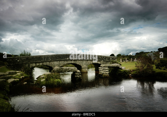 bridge on Dartmoor - Stock-Bilder