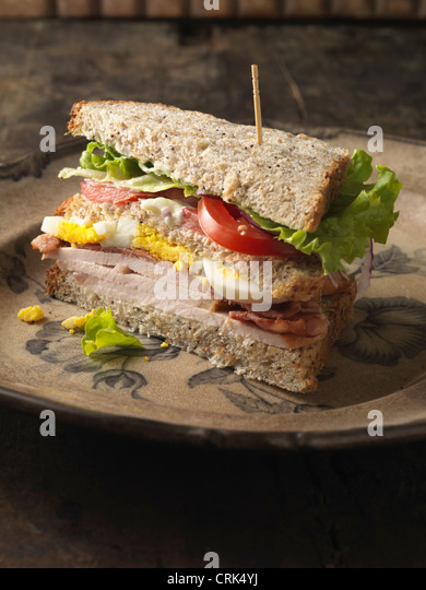 Close up of sandwich on plate - Stock-Bilder