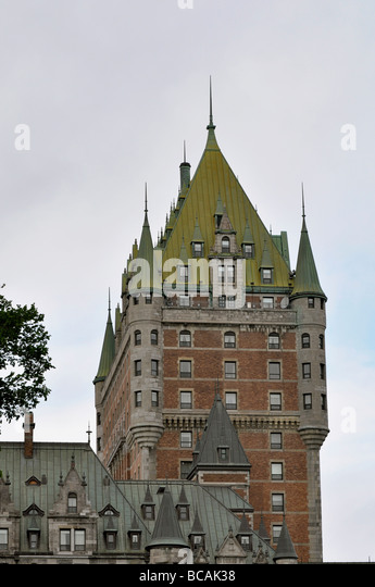Chateau Frontenac in Quebec City, Canada - Stock Image