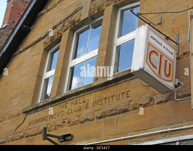 The hall, Montacute Working Mens Club,South Somerset,England,UK - Stock Image