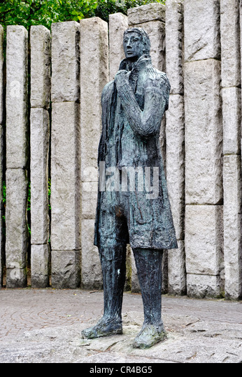 Wolfe Tone, 1763 - 1798, Irish freedom fighter, memorial, St. Stephan's Green, Dublin, Republic of Ireland, - Stock Image