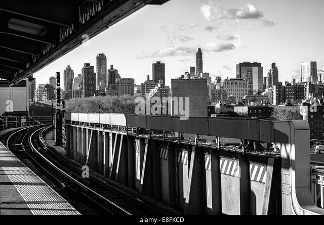 USA, New York State, New York City, Queens Plaza - Stock Image