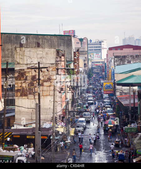 part of manila city is a chaotic scene. Photo is taken at Philippines. - Stock-Bilder