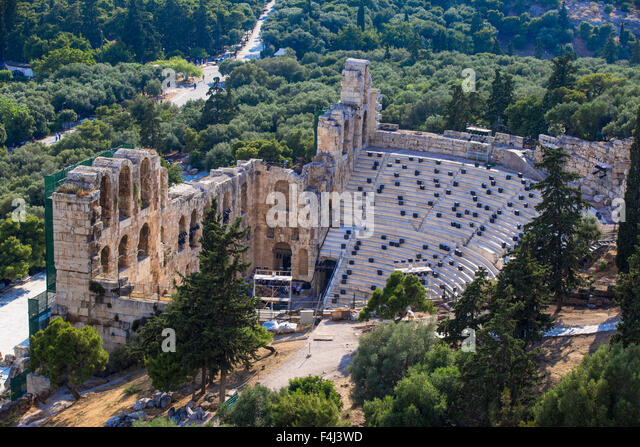 The Odeon of Herodes Atticus (the Herodeon), Athens, Greece, Europe - Stock Image