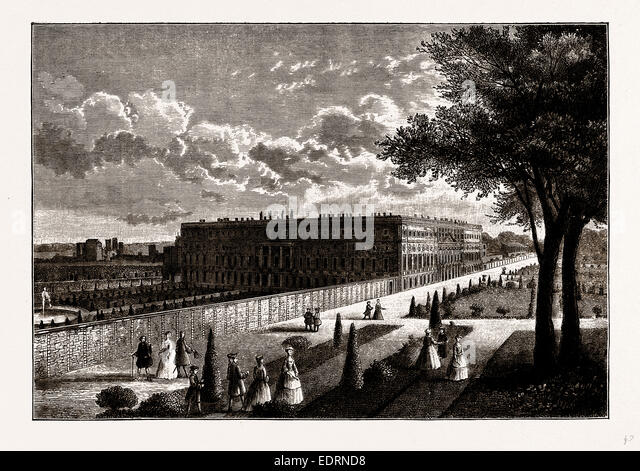 HAMPTON COURT, from a Print published about 1770 - Stock Image