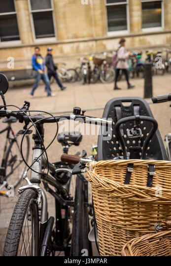 The University city of Cambridge in England with lots of bikes - Stock-Bilder