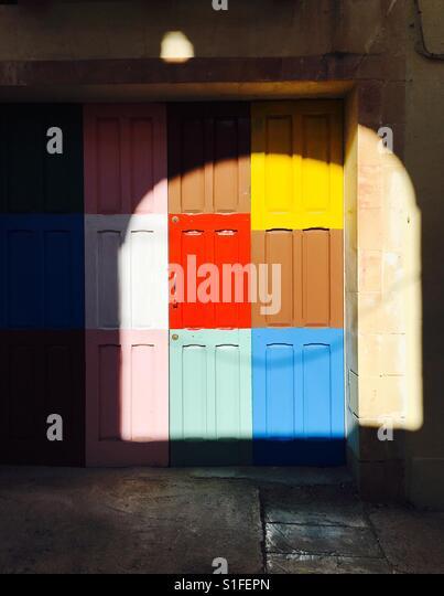 Garage door - Stock-Bilder