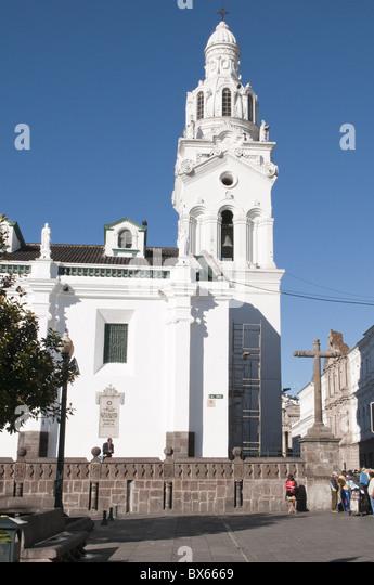Cathedral of Quito, Plaza de Independencia, Historic Center, Quito, Ecuador, South America - Stock Image