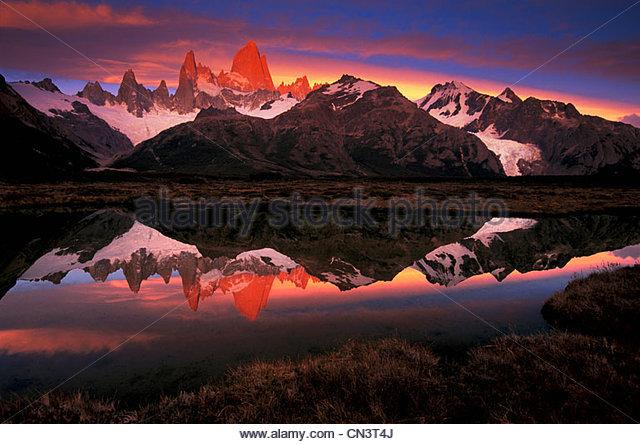 Fitz Roy, Los Glaciares National Park, Argentina - Stock Image