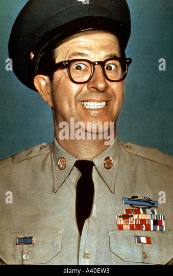 PHIL SILVERS as Sgt Bilko in the US TV series - Stock Image