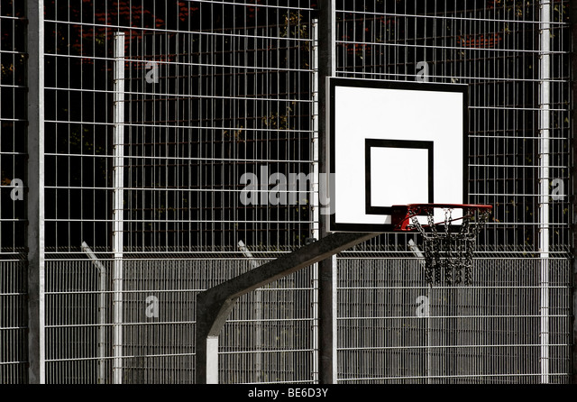 Basketball hoop - Stock Image