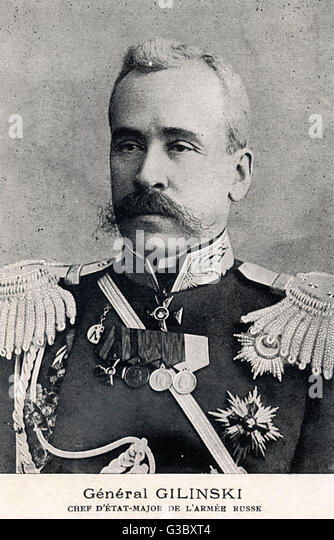 Yakov Zhilinski (Zhilinskiy) (18531918), Chief of Staff of the Imperial Russian Army in Manchuria during the Russo - Stock Image
