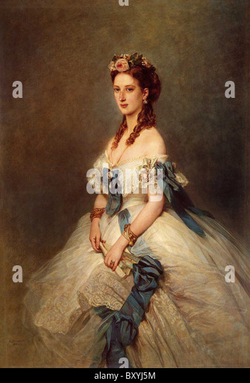PRINCESS ALEXANDRA OF DENMARK (1844-1925) wife of Edward VII in the 1864 painting by Franz Winterhalter - Stock-Bilder