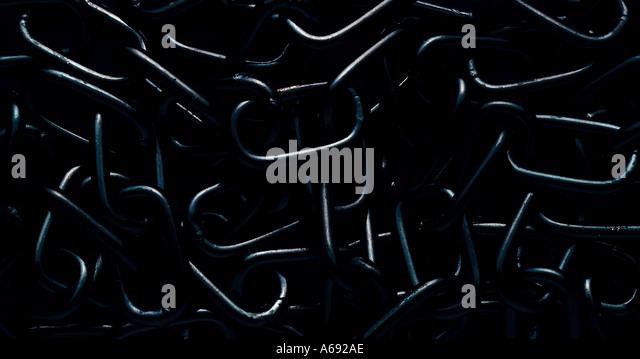 black chain on a dark background - Stock-Bilder