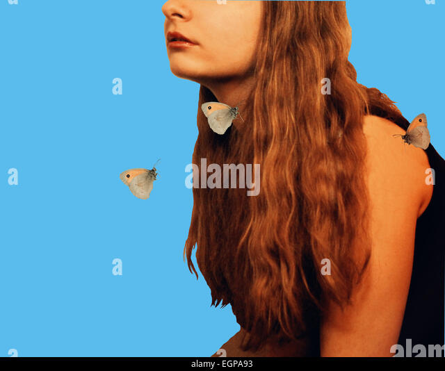 Fantasy girl - Stock Image