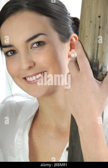 blouse, bourgeois, aristocratic, clasic, classic, blouse, face, portrait, eyes, - Stock Image